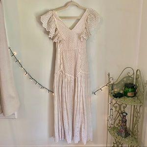 NWT* LoveShackFancy Ivory Cressida Eyelet Dress